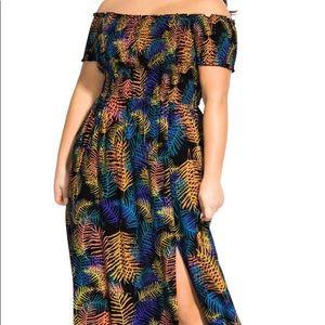 City Chic Dresses - Palm dress - city chic